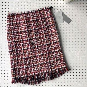 NWT Carlisle | Multicolored Tweed Pencil Skirt